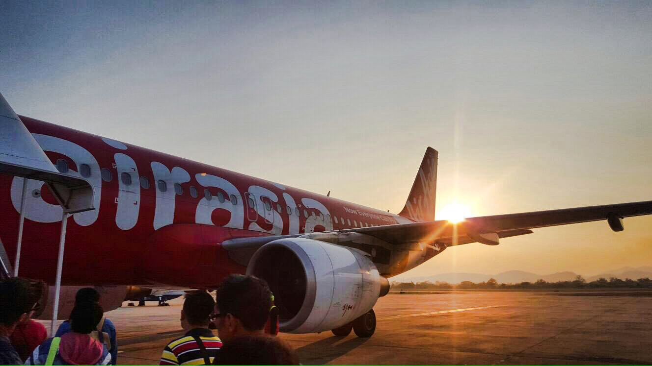 Air Asia Plan to Bangkok
